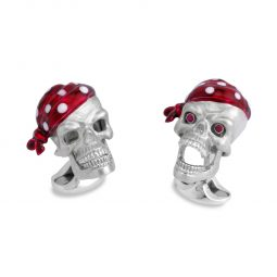 Photo of Pirate Skulls with Ruby Eyes Deakin & Francis Cufflinks