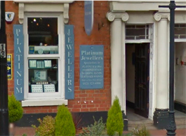 Platinum Jewellers in the Birmingham's Jewellery Quarter
